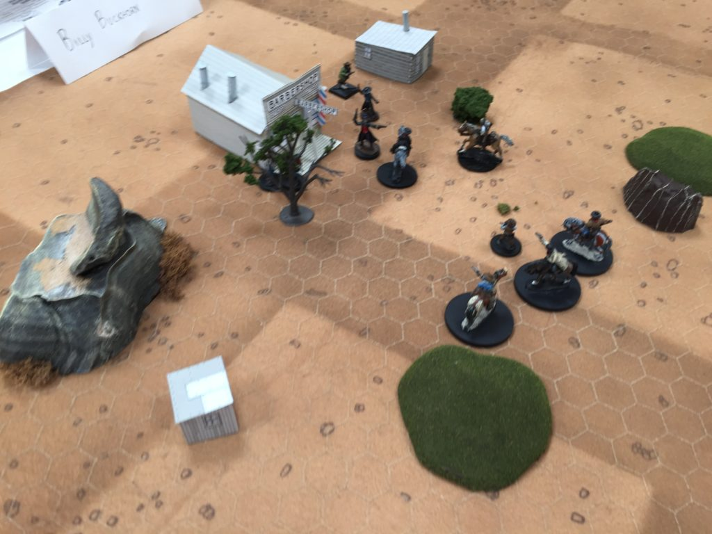 A recent Boot Hill game with old-school, fast combat