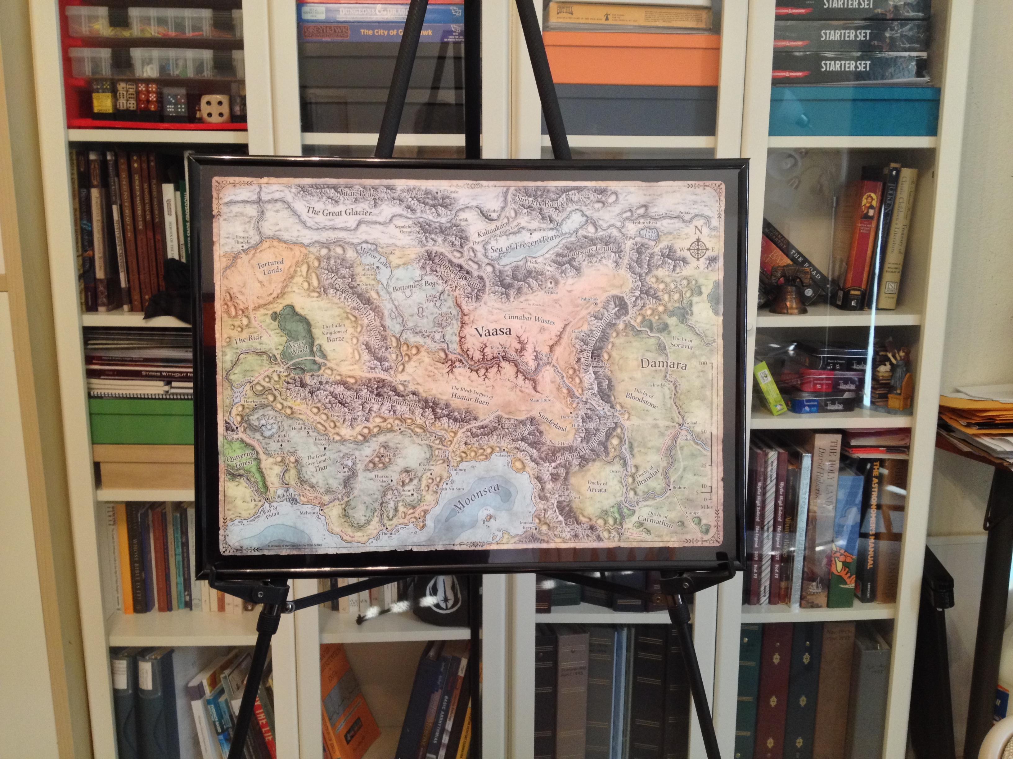 using cheap poster frames for rpg maps s w shinn