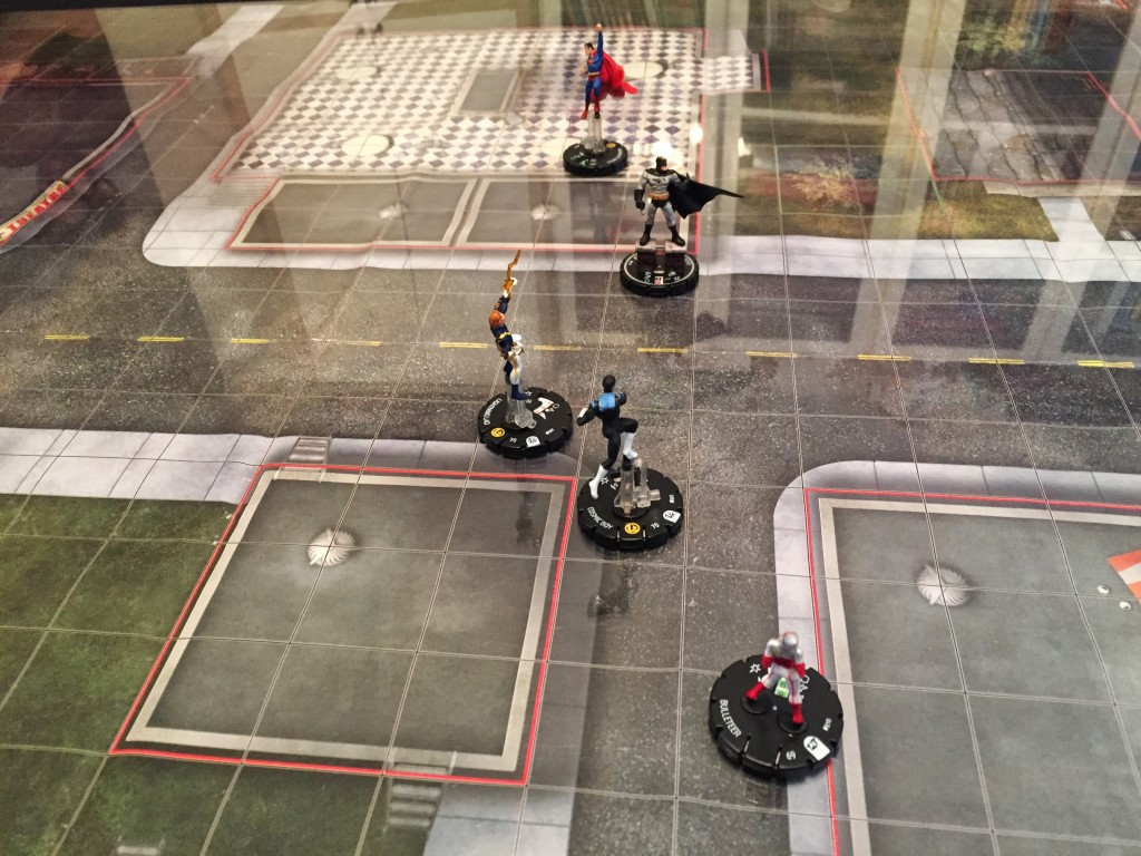 Heroclix Figures on the Battlemat