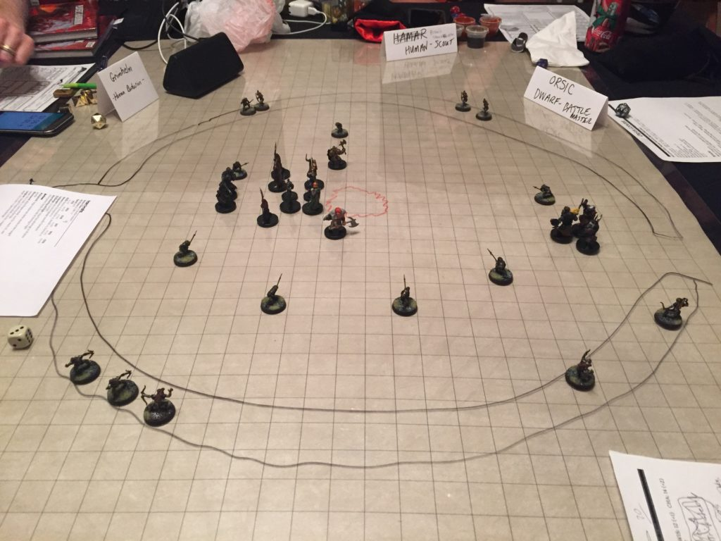 Big Set Piece Battle from the First Time I Ran 'Of Leaves and Stewed Hobbit' in my Home Game
