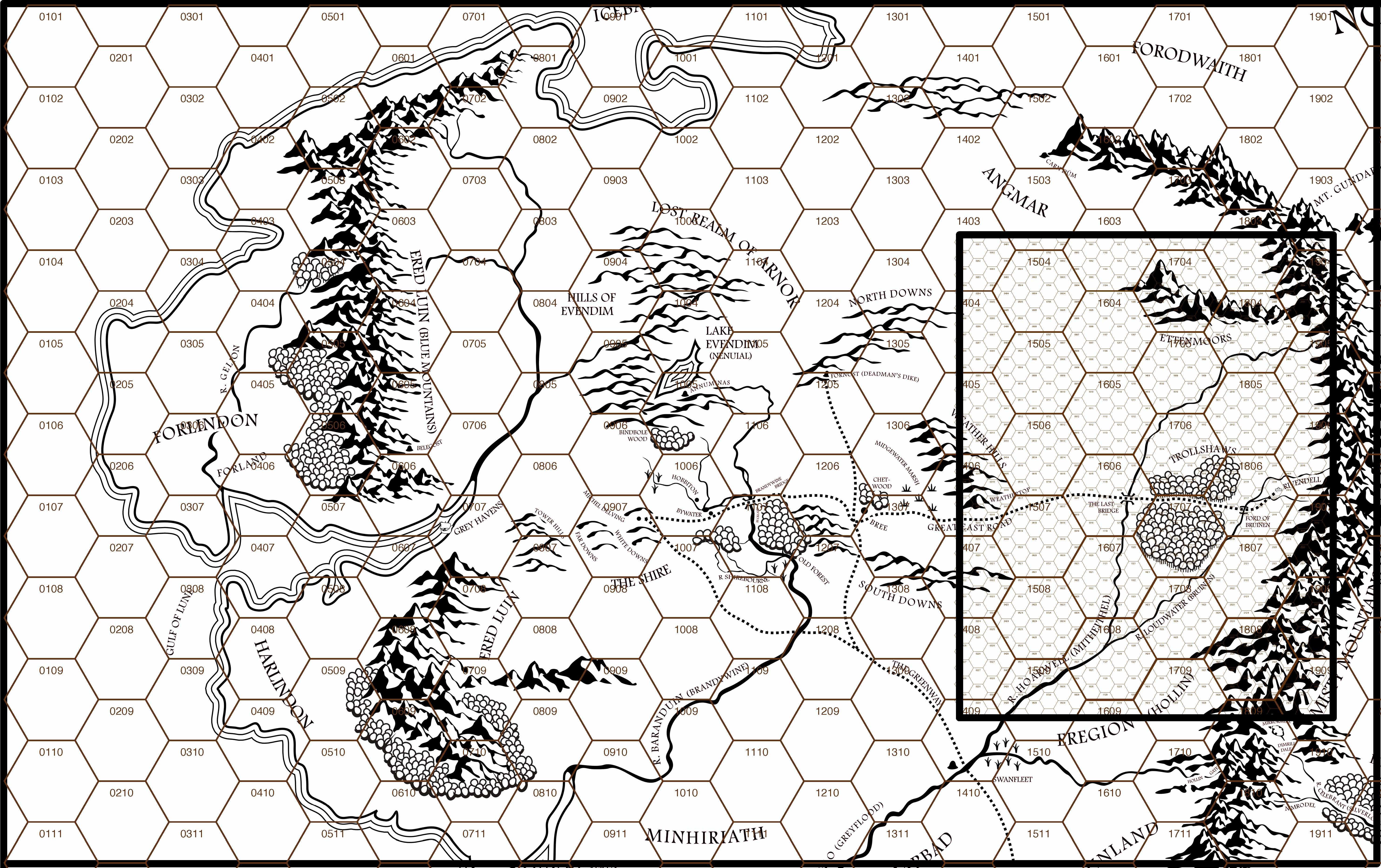 MERP Hex Map 2a