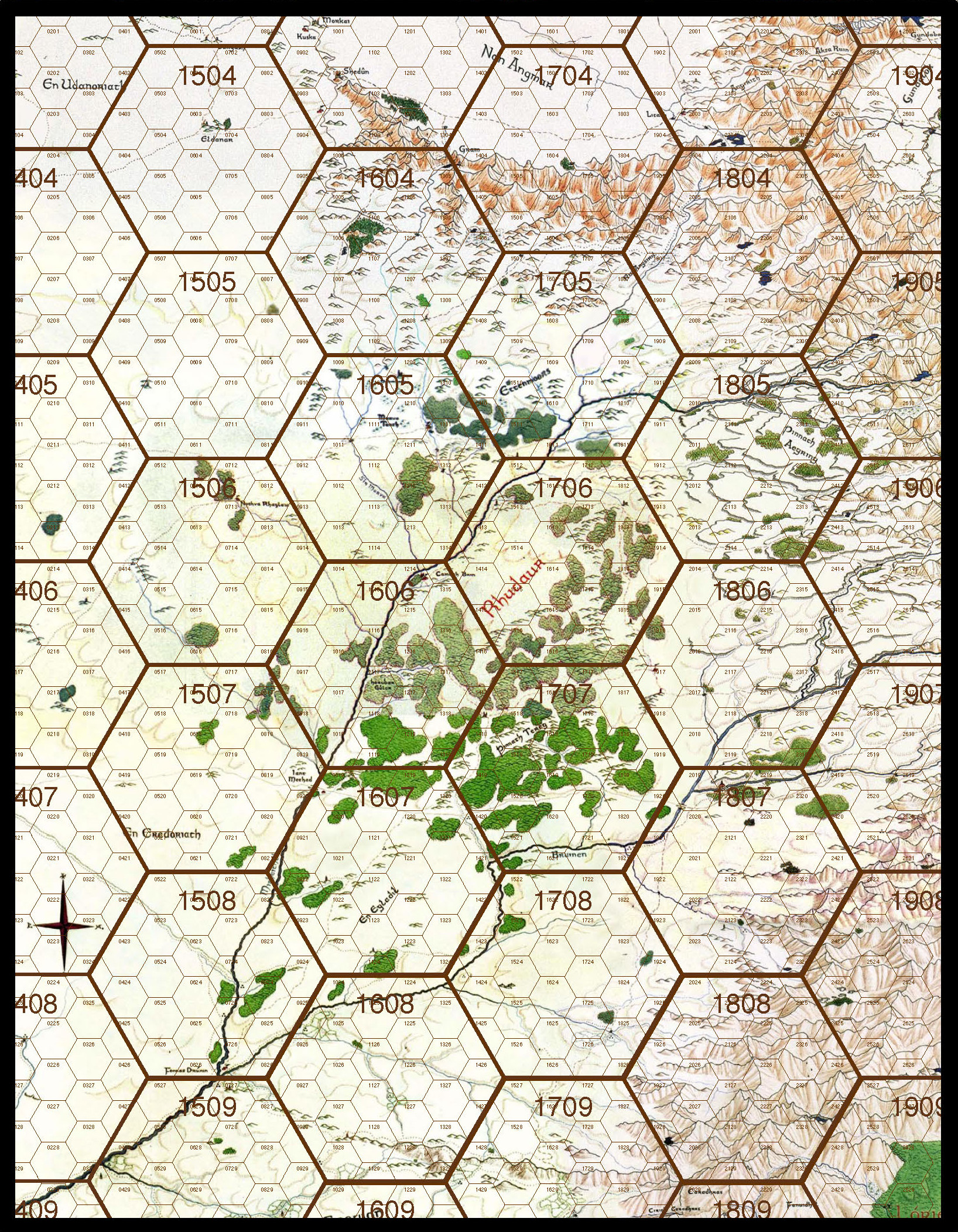 Hex Mapping Middle Earth S W Shinn