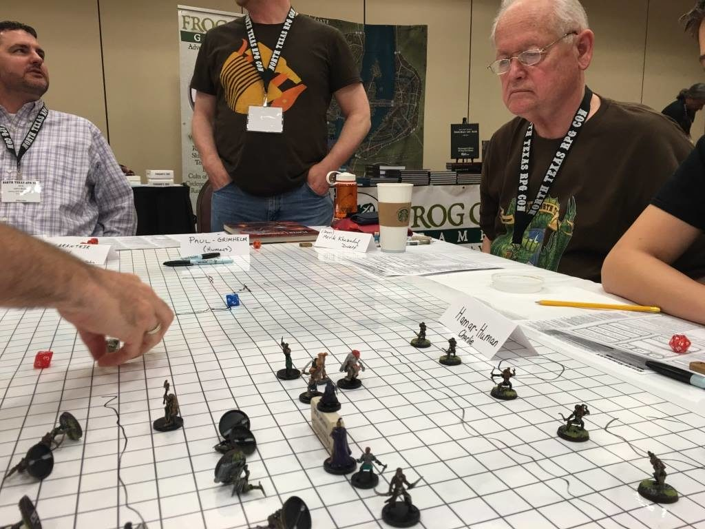 Our climactic set-piece battle. Was proud to have Dr. Dennis Sustare (second from right, author of Bunnies & Burrows) play in my game!