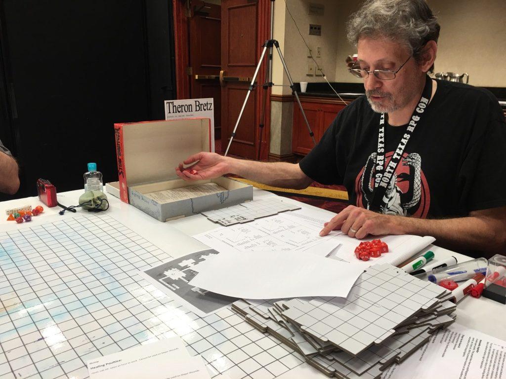 Theron Bretz's running Stormbringer RPG at NTRPGCon 2016